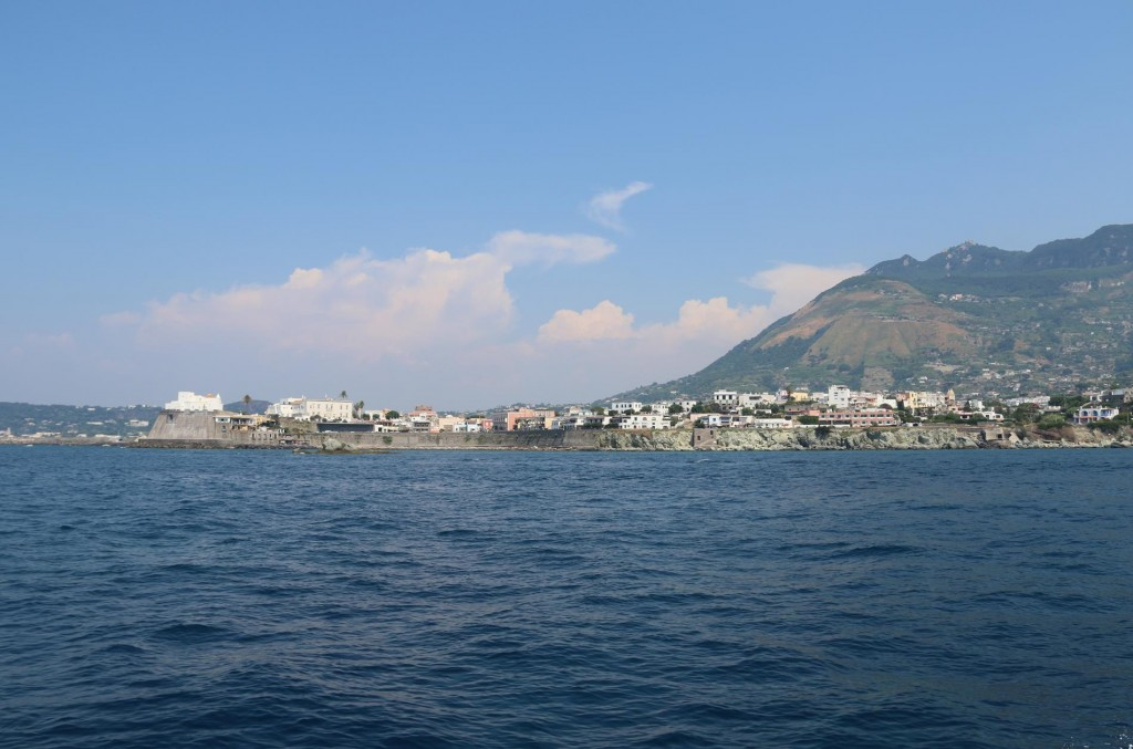 Approaching Foria d'Ischia on the mid west coast