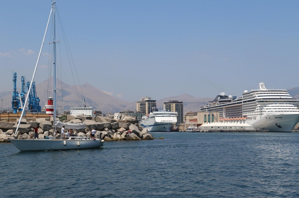 Palermo is a major port in Sicily for visiting cruise ships