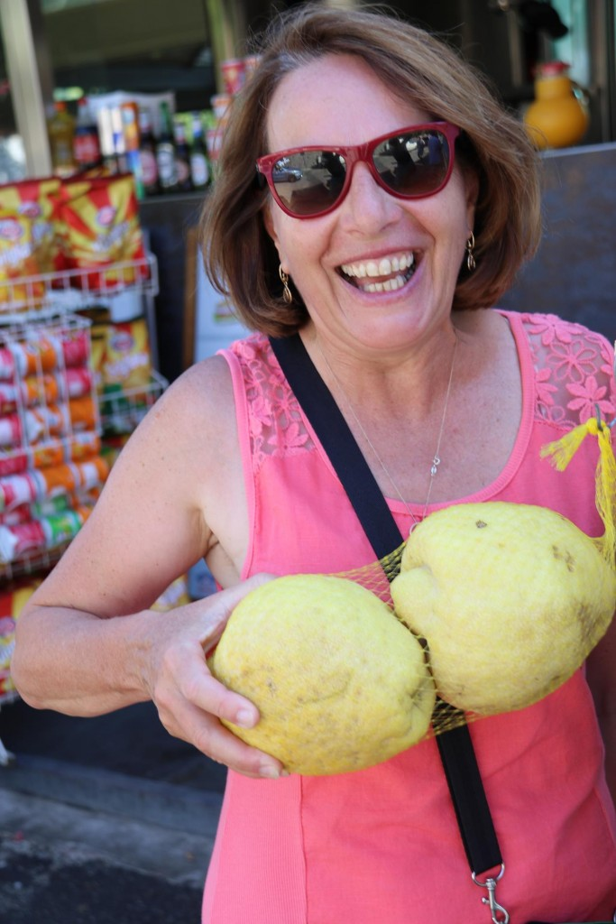 Susie and a couple of huge lemons!!