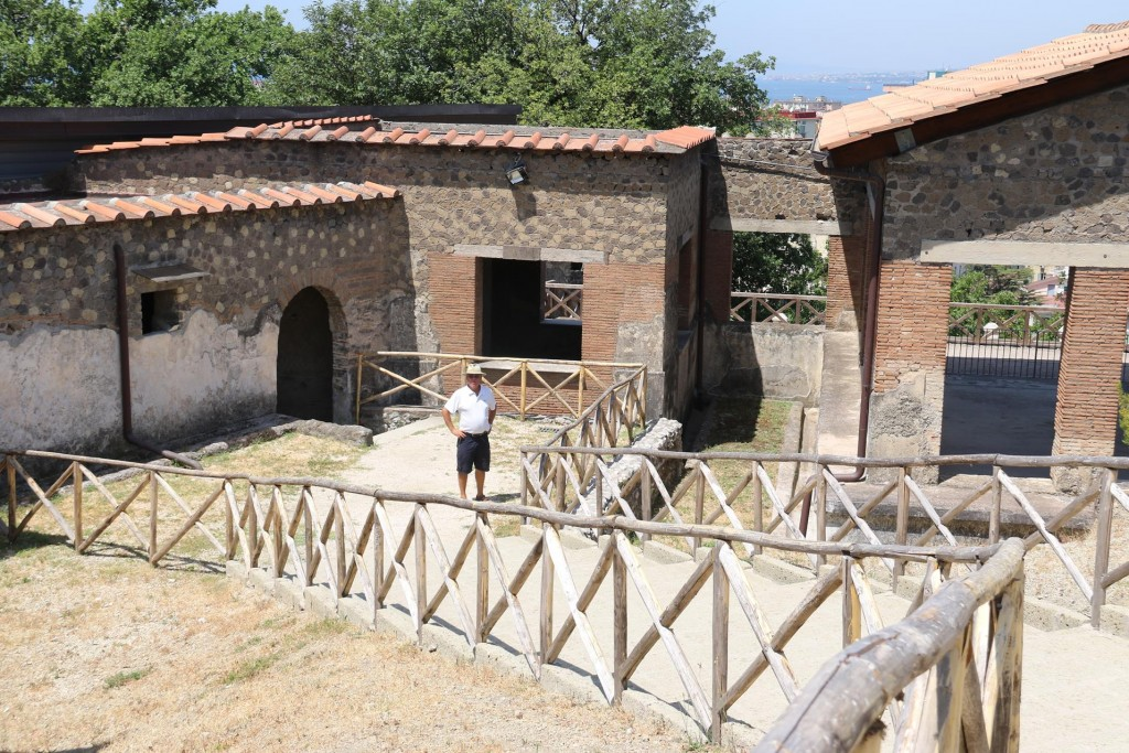 We visit  Villa Arianna which is part of an ancient site in the town which was covered by ash after the eruption of Vesuvius in 79AD