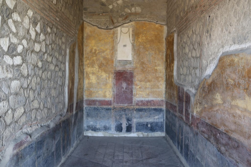 The frescos in the rooms of the large villa are so well preserved for their age