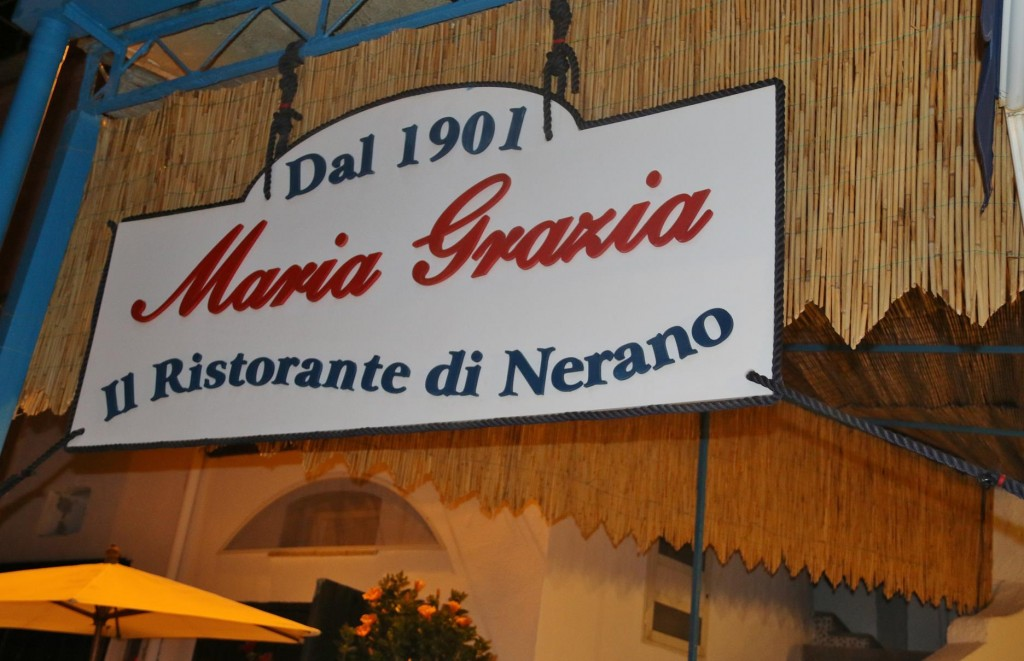 After our wonderful lunch here last week with Don and Susie, we had to return to Maria Grazia for dinner this time