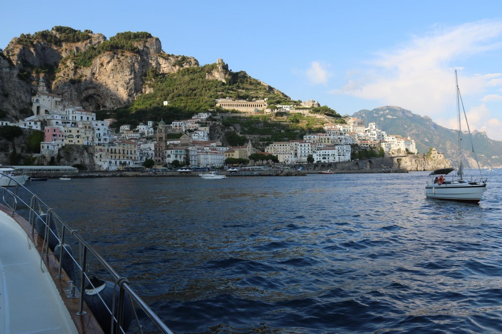 With a prior phone call we were lucky to secure a berth in the Amalfi port