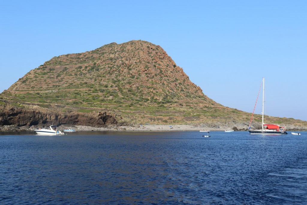 Continuing further we dropped anchor again near Capo Graziano
