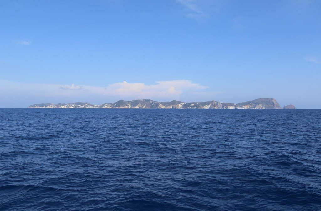 We return to Ponza Island as there are very few safe anchorages on Palmorola overnight