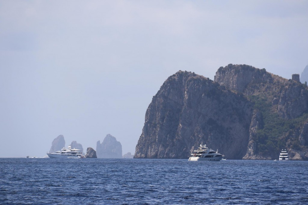 We approach the end of the Amalfi Peninsular with Capri in the background