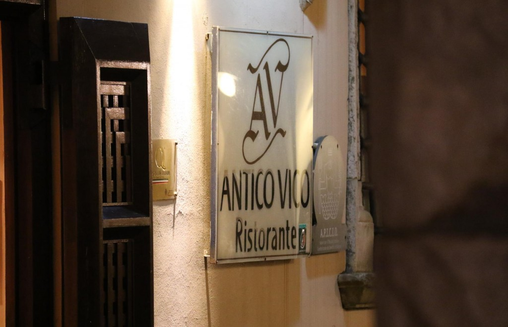 We dine at Antico Vico Ristorante tonight