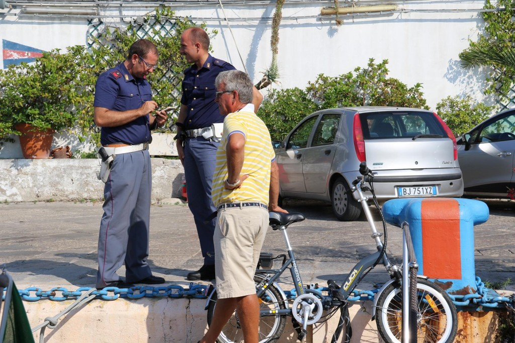 It was a disappointing start to our visit to Palermo!! One of our brand new electric bikes was stolen from outside a small supermarket despite the fact that it was securely locked