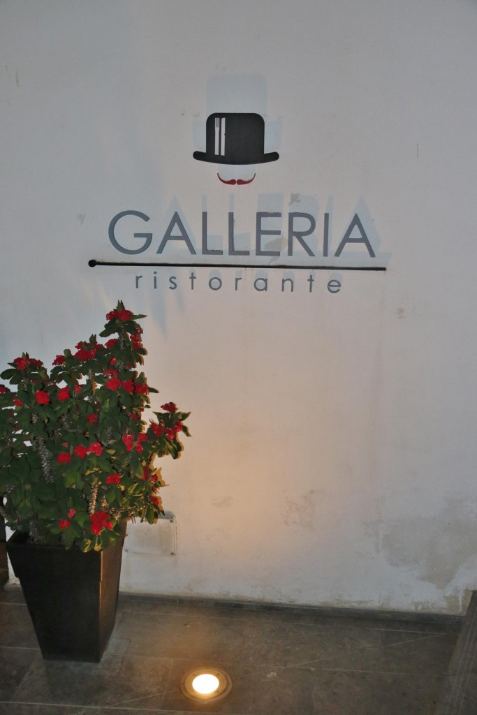 The Galleria Ristorante in the old town for us tonight