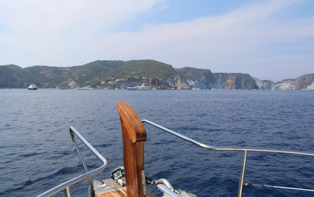 Approaching Ponza Island, the largest of the Pontine Islands