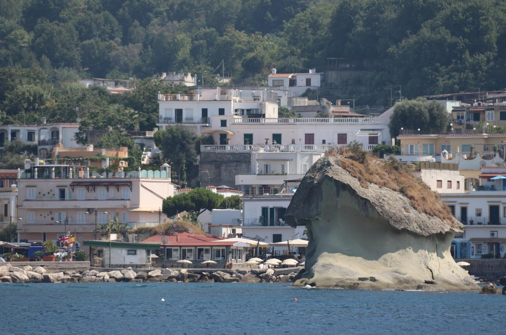 Pietra del Lacco, a conspicuous rock in the bay is also known as Il Funghi