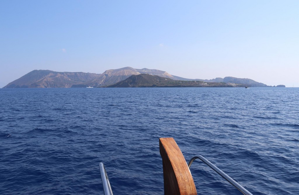 Looking directly south to Vulcano Island which is less than a kilometre from Lapari Island