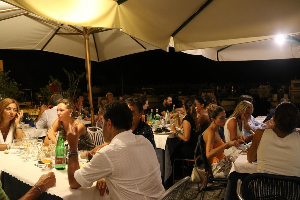 We arrive at the busy Calacole Restaurant and we were lucky enough get a table set up for us on a small terrace