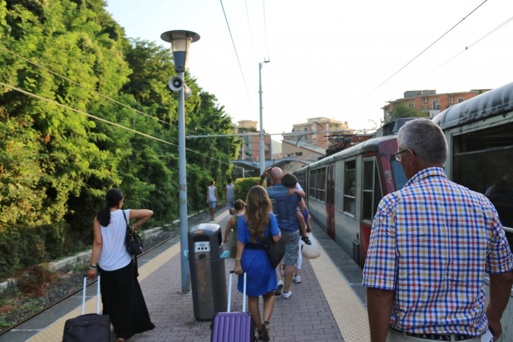 Early evening we arrive back in Castellammare di Stabia by train