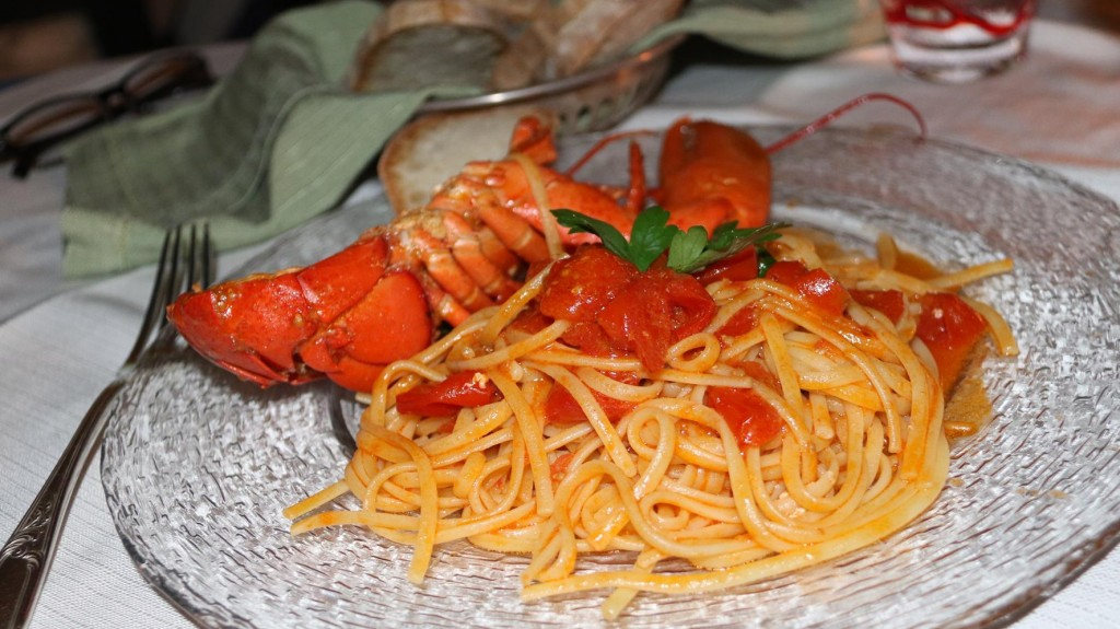 I order the lobster with the spaghetti  which was fabulous