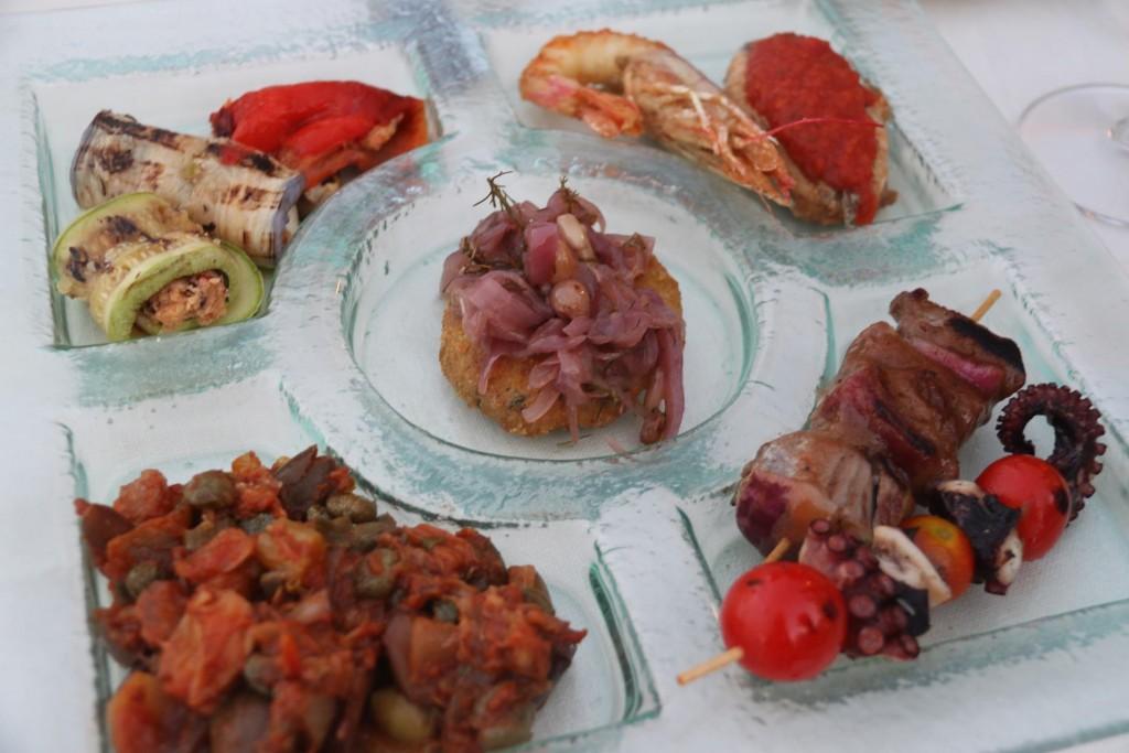 A mixture of Sicilian delicacies