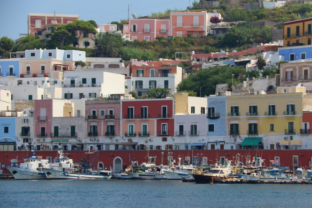 The multicoloured houses and buildings around the port look amazing