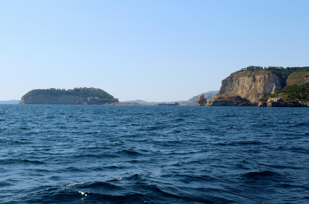 We approach Isola Nisida which is attached to the mainland by a narrow causeway