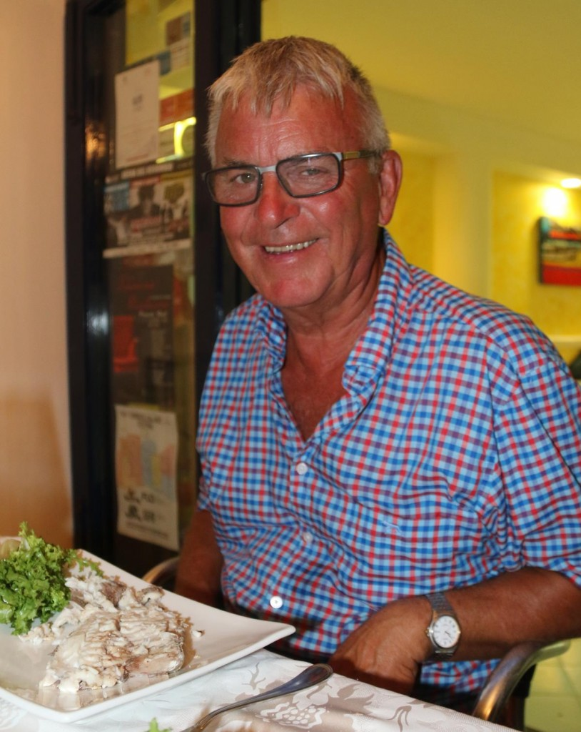 Ric happy with his fish or was it the wine!!