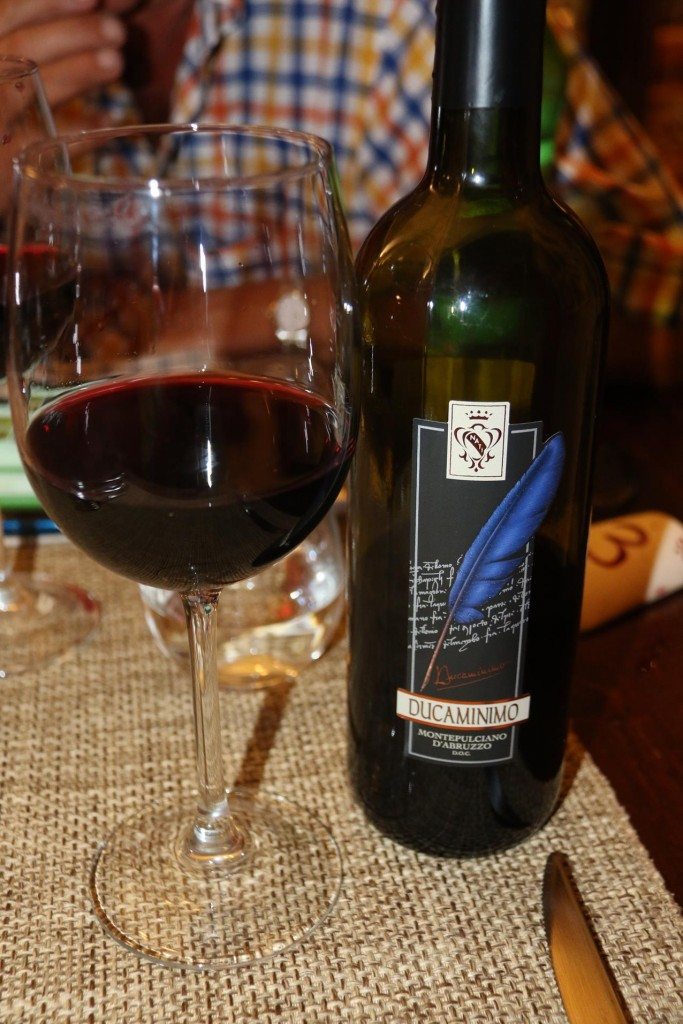 We try a nice vino rosso from Montepulciano