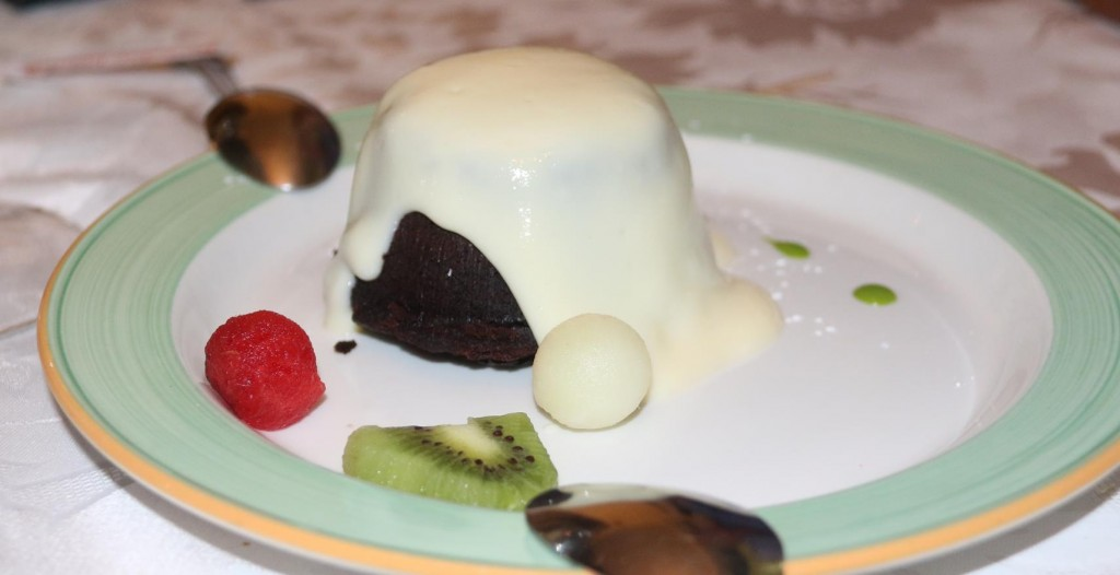 Delicious chocolate pudding