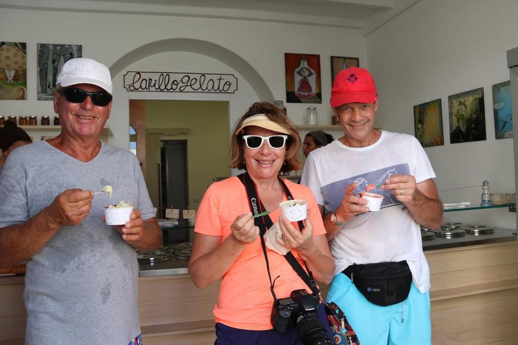 Lapillogelato is the best icecream shop in the Aoelian islands
