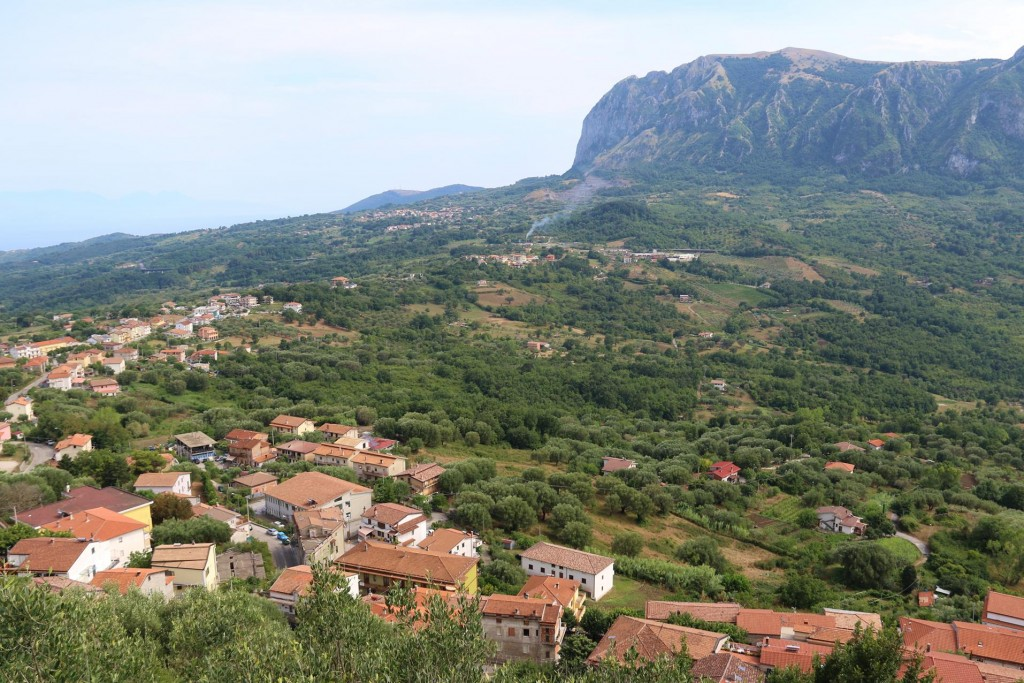 To the south is the Bulgheria  Mountain and Celle di Bulgheria where our driver lives with his family