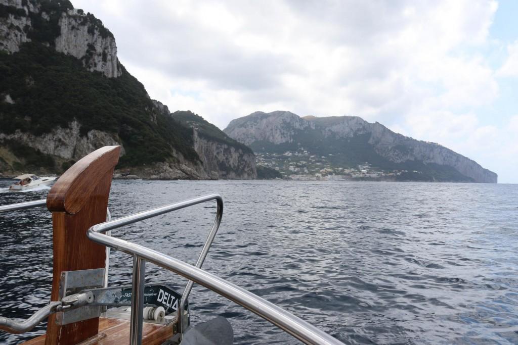 Approaching Capri Island