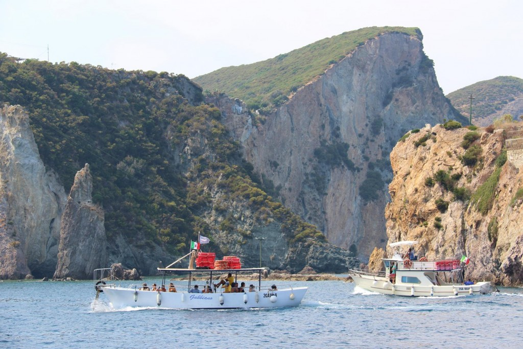 So many day tripper boats taking visitors out to the bays around the island