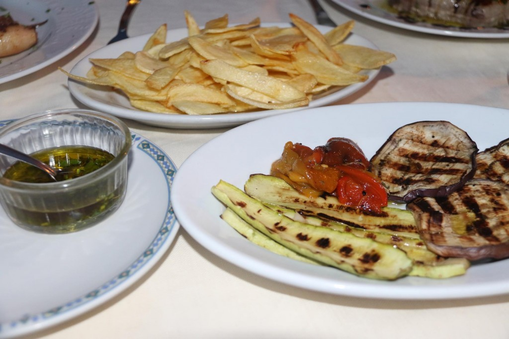 Naturally we had the usual grilled vegetables and tonight the wonderfully thin potato chips