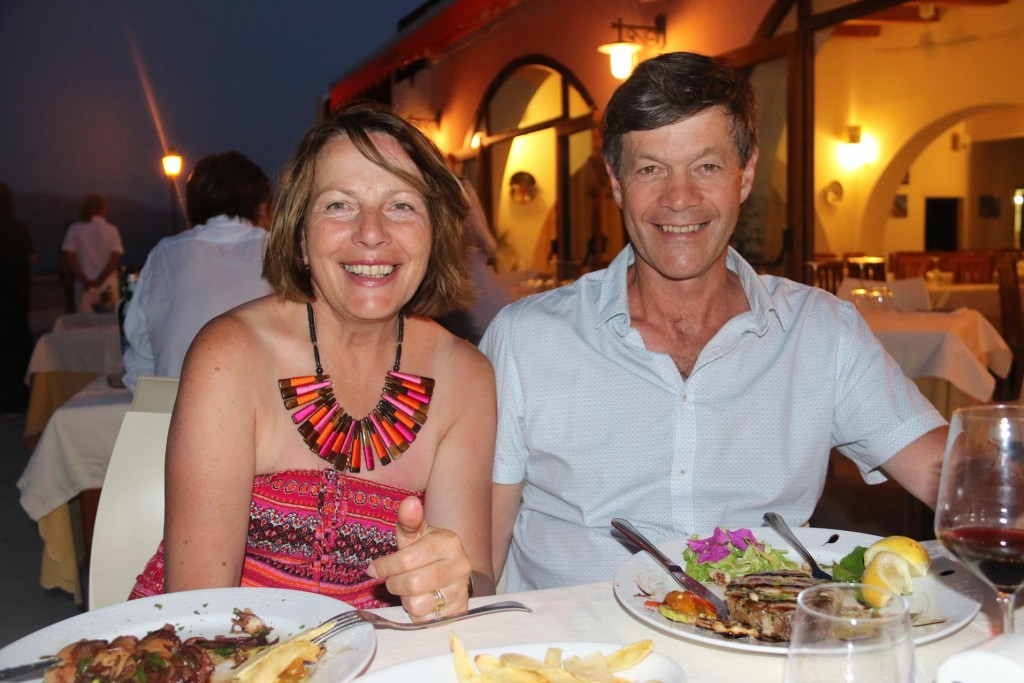 Don and Susie happy with their food choices tonight