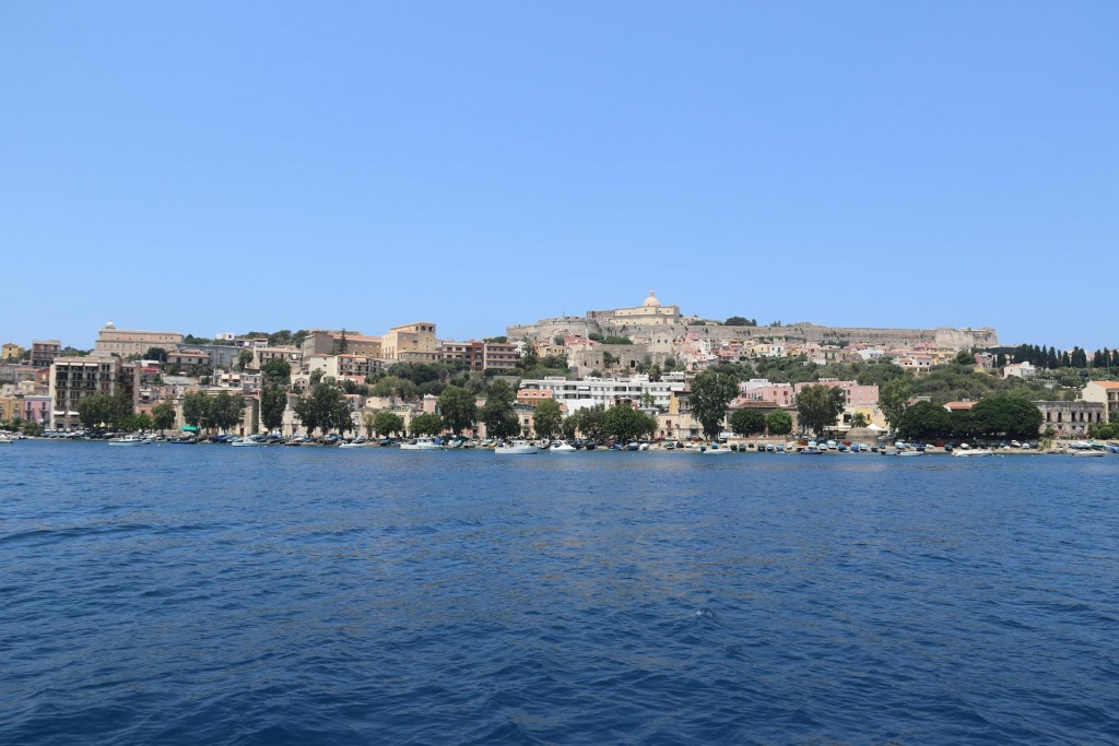 We approach the town of Milazzo on the north east coast of Sicily