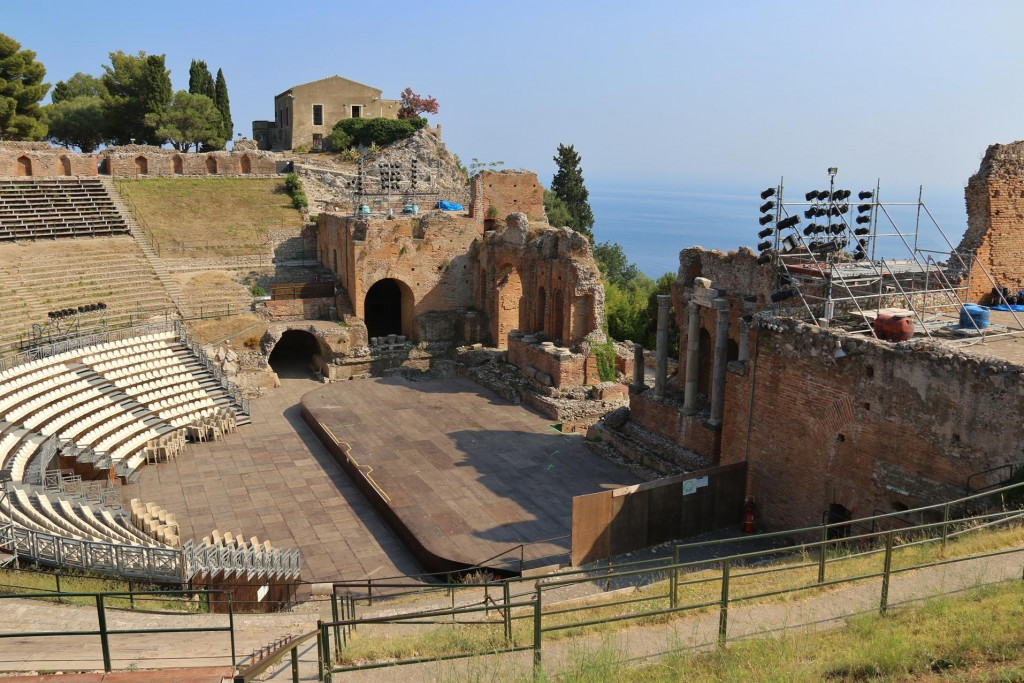 The ancient theatre is nowadays regularly used for concerts etc
