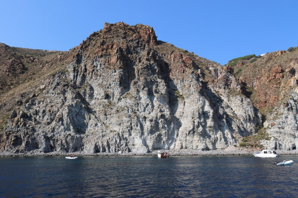 On the southern point of Lipari Island is a small beach called Spiaggia di Vinci