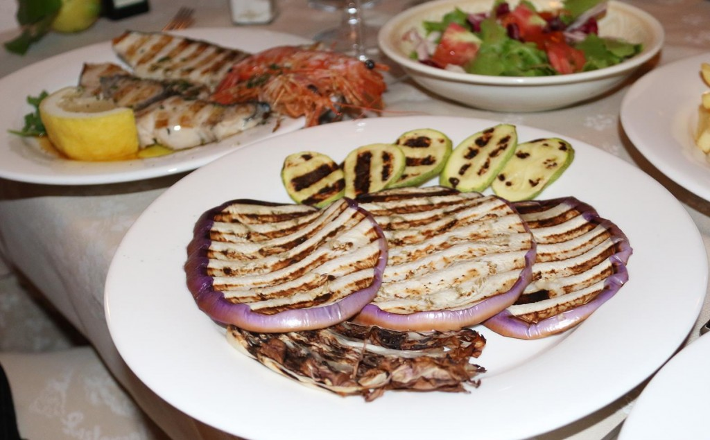 Very nice grilled vegetables on the side