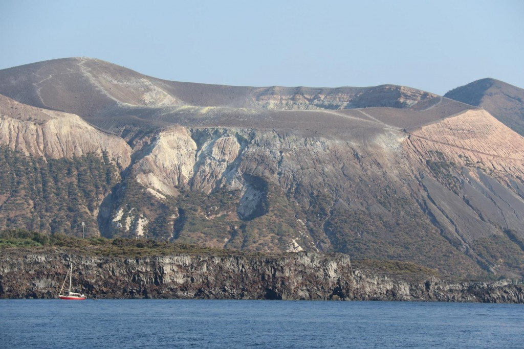 Vulcano Island has an active crater which last erupted in 1888 and 1890