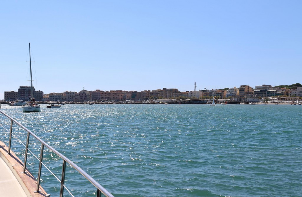 We arrive in the town of Anzio for the night on our journey up the west coast of Italy