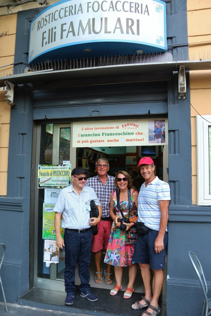 Our next stop in Messina is our driver's favourite arancino shop