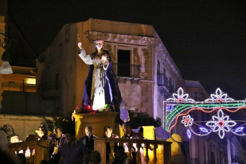 Rosalia is the patron saint of Palermo and for over 390 years the city has been paying tribute to her with a festival in mid July
