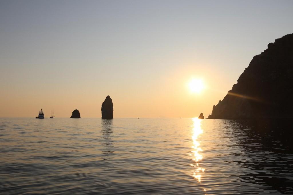 Sunset by Spiaggia di Vinci, Lipari Island