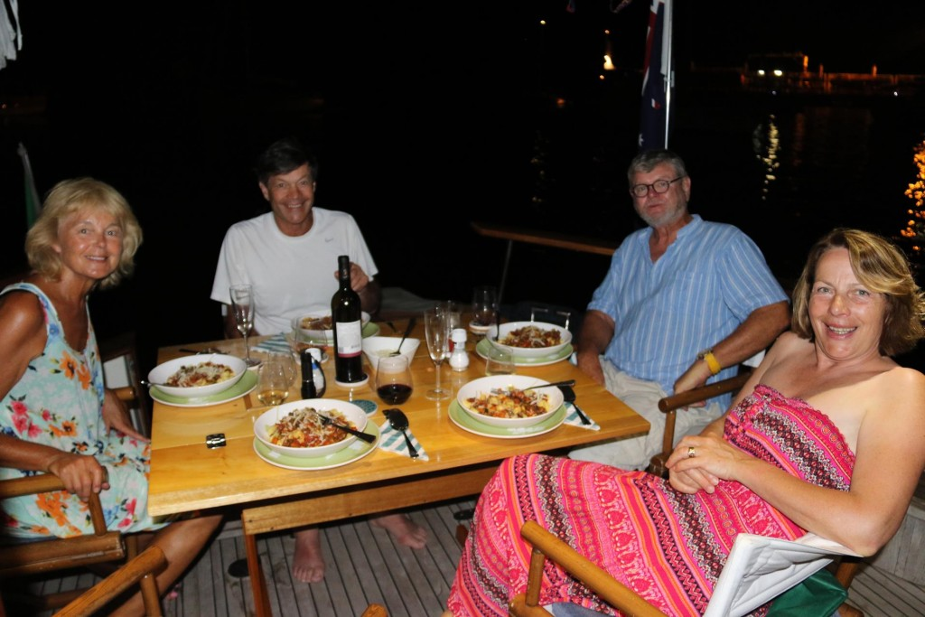 John joins us all for a vegetarian pasta dinner