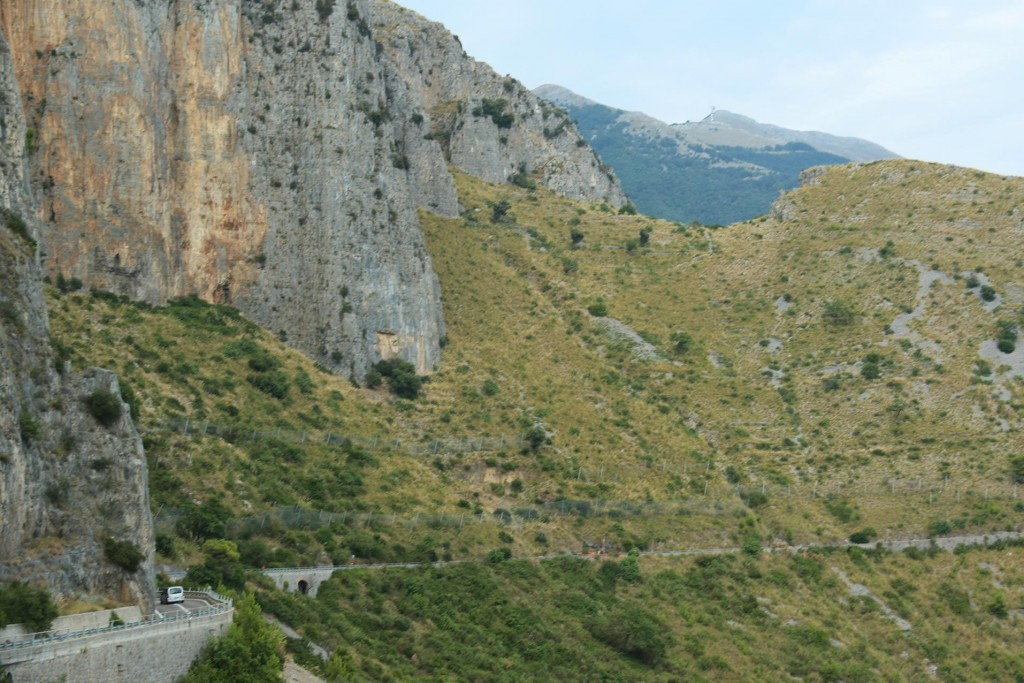 We pass the most incredible scenery on our way to Maratea