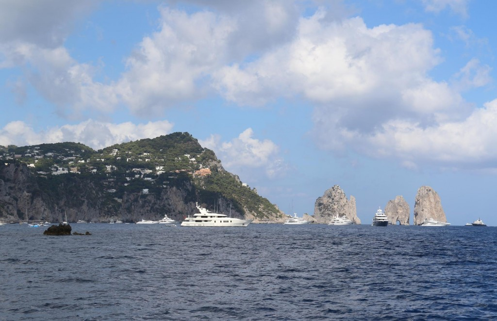 The famous bay Marina Piccola