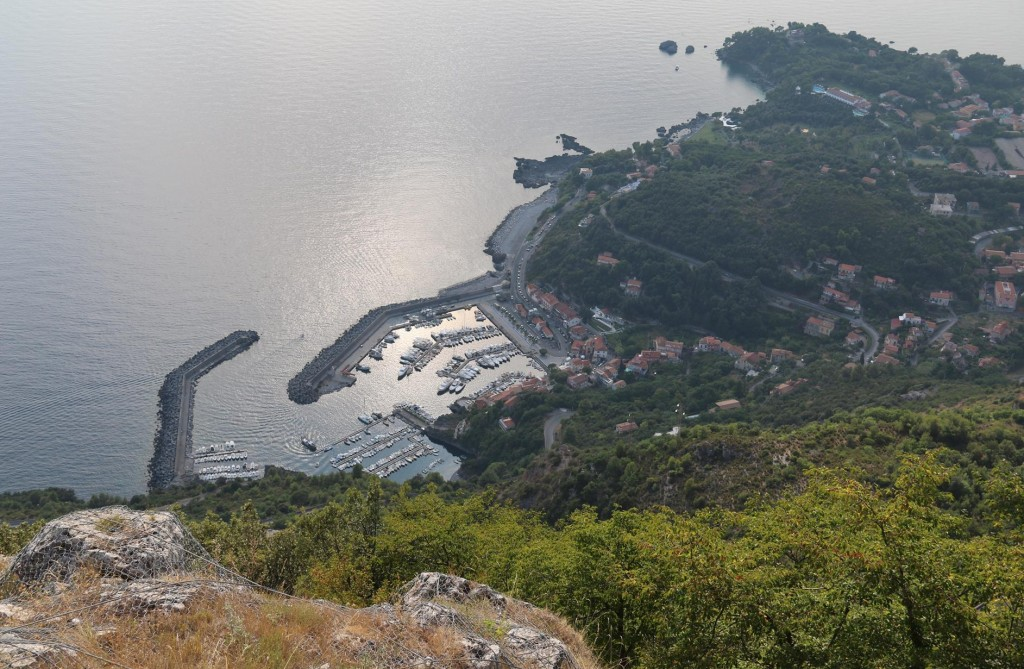 The view of the town Maratea from beside the statue, makes one feel a little light headed!!