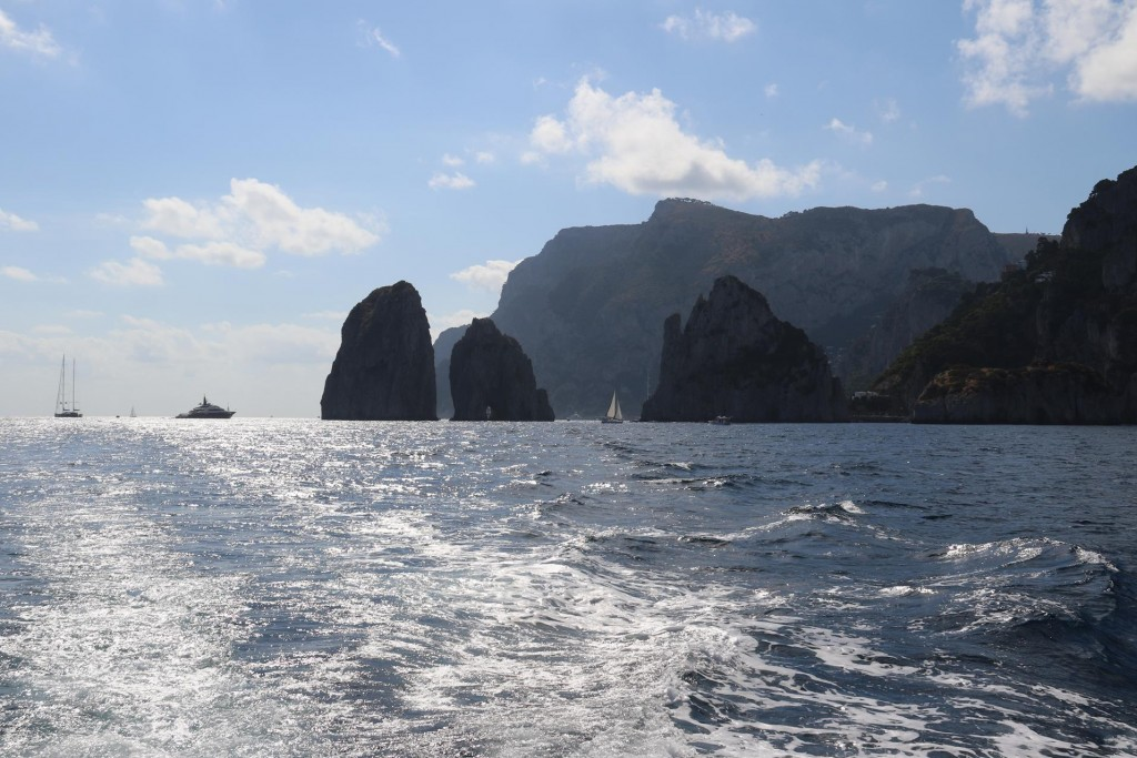 After dropping the anchor and having lunch and a swim in Marina Piccola we head back to the Amalfi Peninsular