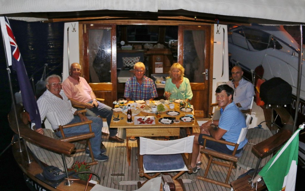 We invited Ugo and his friends to join us for drinks on the Tangaroa in the Palinuro Marina