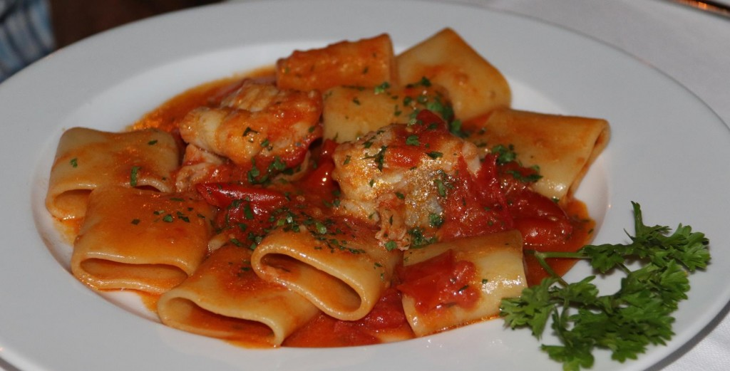 Don's choice was also a pasta dish however his had fish, tomato and capers