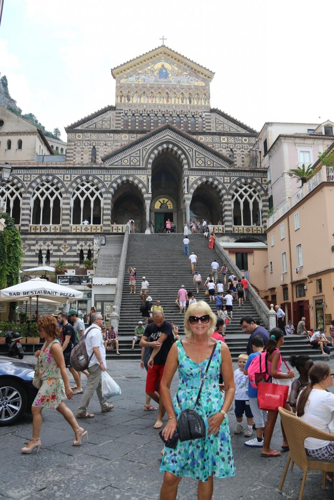 The  Duomo Piazza is one of the nicest spaces in Amalfi