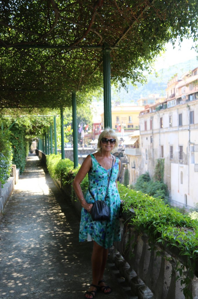 The wonderful gardens of the Grand Hotel Excelsior Vittoria where many famous people have stayed over the years