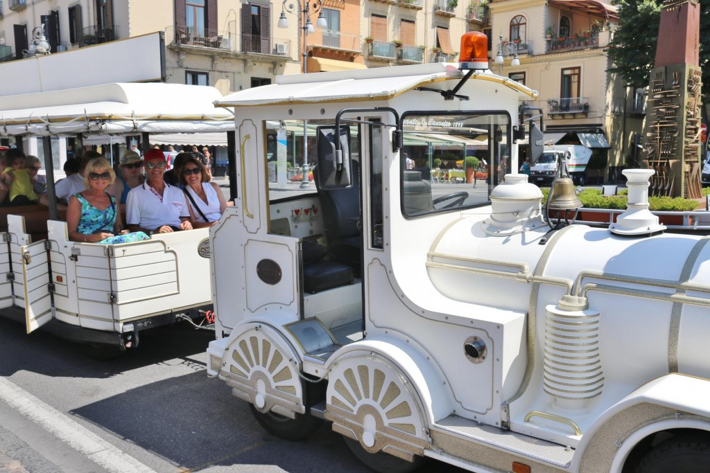 To save our energy during the high temperatures we opted for a train tour around the town